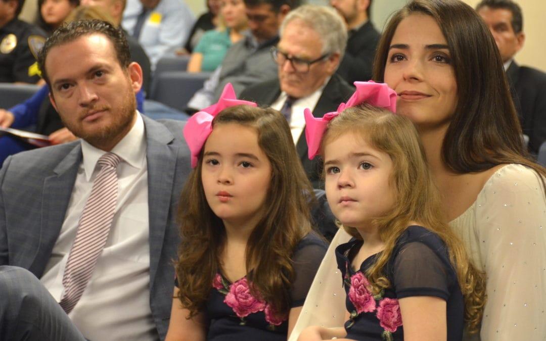 Rep. Óscar Longoria, Jr., D-La Joya, files for Speaker of the Texas House of Representatives, would be the first bilingual Mexican-American Speaker of the 150-member legislative body