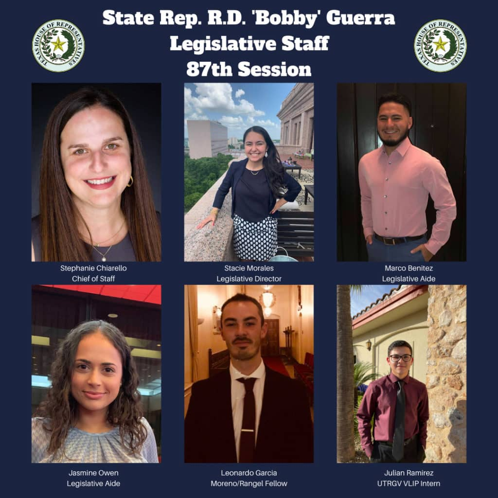 """Rep. R.D. """"Bobby"""" Guerra's legislative staff members: Who they are, and what they do - Titans of the Texas Legislature"""