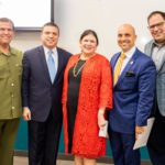 """FEATURED, FROM LEFT: Sen. Eddie Lucio, Jr., D-Brownsville; Rep. Sergio Muñoz, Jr., D-Mission; Leslie Ward, President, AT&T Texas; Rep. Armando """"Mando"""" Martínez, D-Weslaco; and J.D. Salinas, III, Director, Internal Affairs, AT&T Texas, and former County Judge for Hidalgo County. This image was taken at the South Texas College Regional Center for Public Excellence, located at 3100 South Cage Boulevard in Pharr, on Thursday, January 23, 2020."""