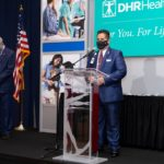 Mario Lizcano, Administrator of Corporate Affairs, DHR Health, and DHR Health staff honored with separate resolutions by House of Representatives, announces Rep. Canales - Titans of the Texas Legislature