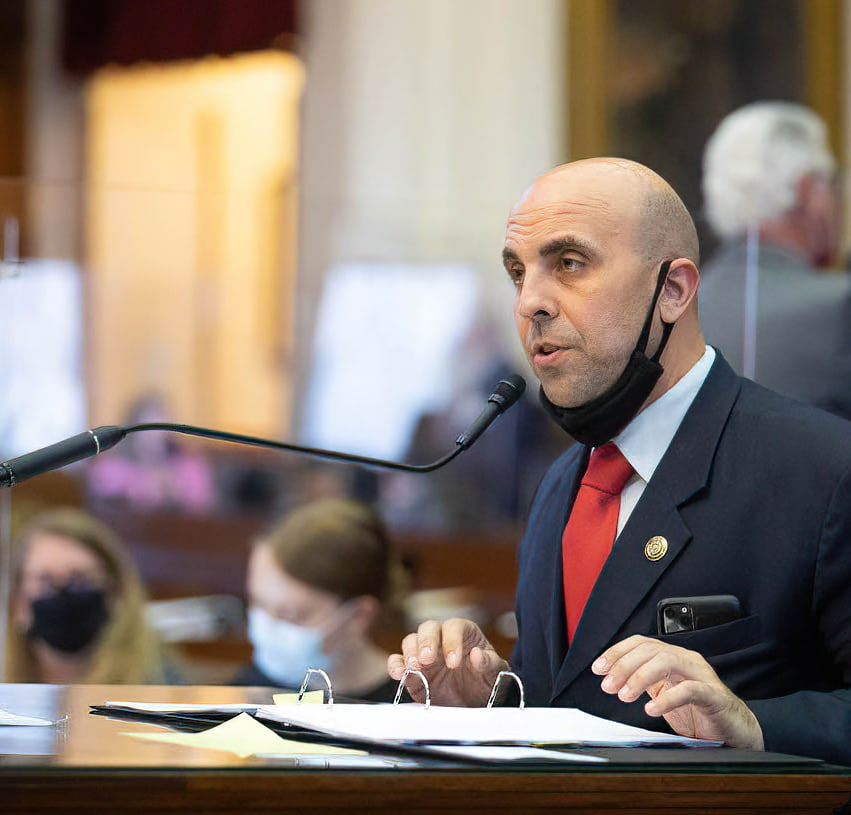 """Rep. Armando """"Mando"""" Martínez, D-Weslaco, successfully carried legislation through the Texas House of Representatives during Spring 2021 to develop a plan that will combine federal and state inspections of commercial vehicle traffic that travels through Texas' ports of entry."""